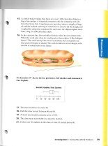"""Sample page from CMP middle school """"inquiry based"""" math text book"""