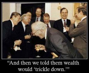 trickle down