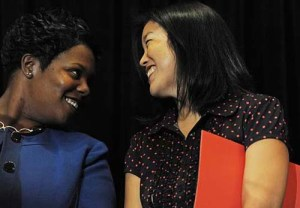 BFF Maya Henderson and Michelle Rhee