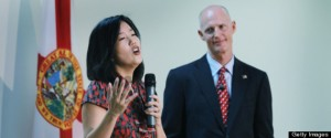 Michelle Rhee singing the praises of Florida Governor Scott Walker