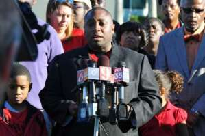 A press conference was held Monday afternoon at the Harry T and Harriette V Moore Justice Center in Viera to announce lawsuit seeking injunction to stop Brevard school closures -- alleging discrimination and civil rights issues. After Orange County attorney Shayan Elahi addressed the media, Rev. Glenn Dames, pastor of St. James AME Church in Titusville spoke to the media.