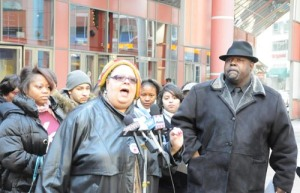CTU President Karen Lewis and Kenwood-Oakland Community Organization's Jitu Brown. Photo: Substance.