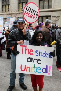 chicago students protest