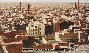 The labyrinth of streets in ancient Cairo.