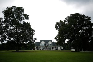 The home of Representative Stephen Fincher of Tennessee, who recently voted for a farm bill that eliminated food stamps.