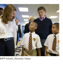 Guess who with two KIPP students. Is this how they dress at Lakeside? Short answer: No.
