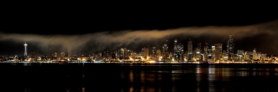 Seattle skyline after the fireworks