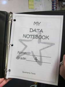 "No student can leave home now without their ""Data Notebook""."