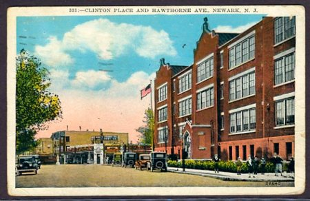 A Newark Public School at Clinton Place & Hawthorne Avenue in Newark, NJ, 1929.
