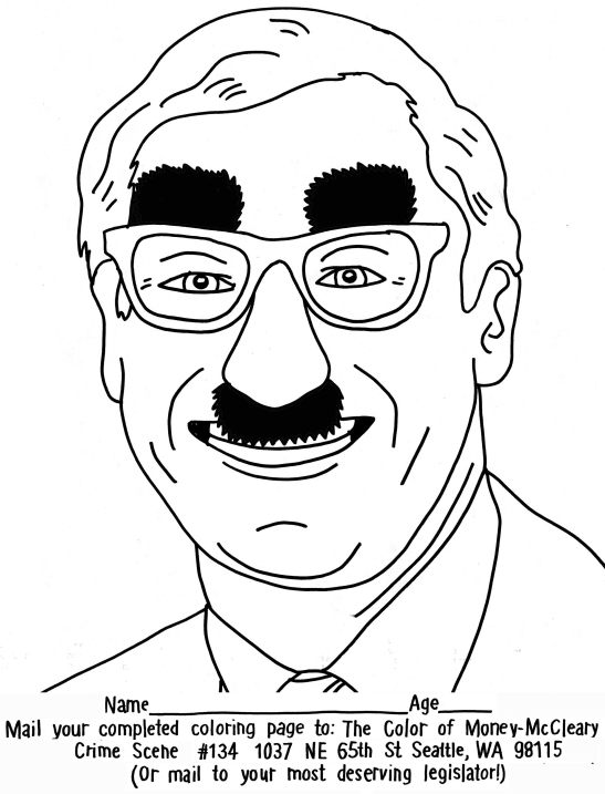 A new coloring page: Sorry, Governor Inslee, there's no