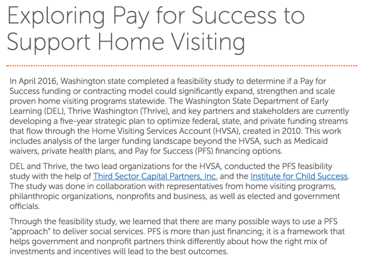 Pay for Success Home Visits