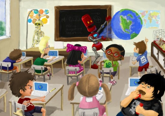 Robots replacing teachers