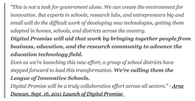 Duncan: Digital Promise