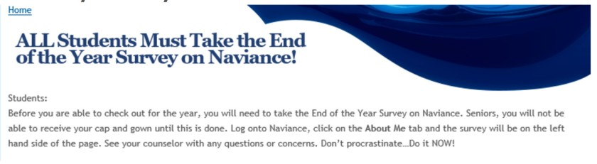 Naviance End of Year Survey