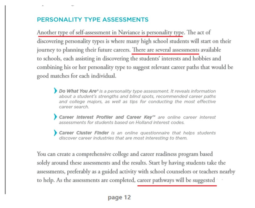 Naviance Personality Test