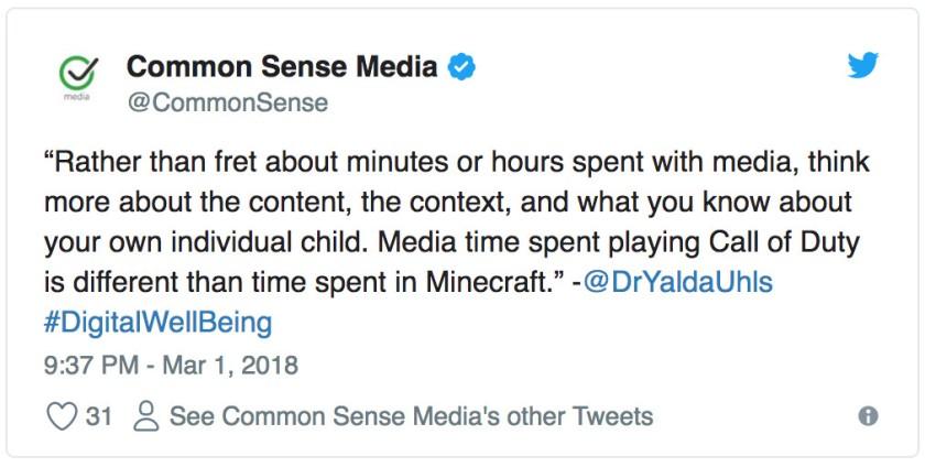 Common Sense Tweet