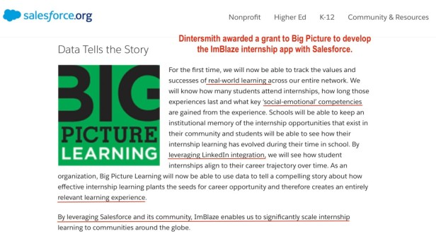 Salesforce - Dintersmith - Big Picture Learning